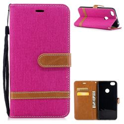 Jeans Cowboy Denim Leather Wallet Case for Xiaomi Redmi Note 5A - Rose