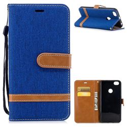 Jeans Cowboy Denim Leather Wallet Case for Xiaomi Redmi Note 5A - Sapphire