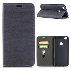 Tree Bark Pattern Automatic suction Leather Wallet Case for Xiaomi Redmi Note 5A - Gray
