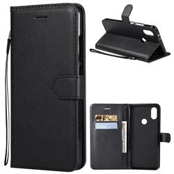 Retro Greek Classic Smooth PU Leather Wallet Phone Case for Xiaomi Redmi Note 5A - Black
