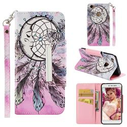 Angel Monternet Big Metal Buckle PU Leather Wallet Phone Case for Xiaomi Redmi Note 5A