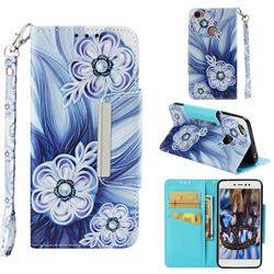 Button Flower Big Metal Buckle PU Leather Wallet Phone Case for Xiaomi Redmi Note 5A
