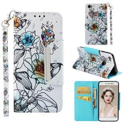 Fotus Flower Big Metal Buckle PU Leather Wallet Phone Case for Xiaomi Redmi Note 5A