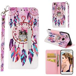 Owl Wind Chimes Big Metal Buckle PU Leather Wallet Phone Case for Xiaomi Redmi Note 5A