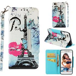 Lip Tower Big Metal Buckle PU Leather Wallet Phone Case for Xiaomi Redmi Note 5A
