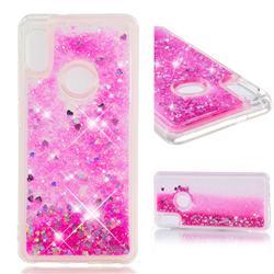 Dynamic Liquid Glitter Quicksand Sequins TPU Phone Case for Xiaomi Redmi Note 5 Pro - Rose