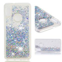 Dynamic Liquid Glitter Quicksand Sequins TPU Phone Case for Xiaomi Redmi Note 5 Pro - Silver