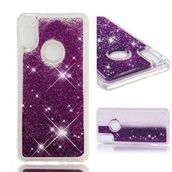 Dynamic Liquid Glitter Quicksand Sequins TPU Phone Case for Xiaomi Redmi Note 5 Pro - Purple