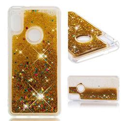 Dynamic Liquid Glitter Quicksand Sequins TPU Phone Case for Xiaomi Redmi Note 5 Pro - Golden