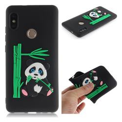 Panda Eating Bamboo Soft 3D Silicone Case for Xiaomi Redmi Note 5 Pro - Black