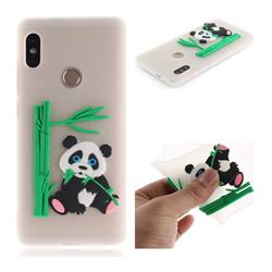 Panda Eating Bamboo Soft 3D Silicone Case for Xiaomi Redmi Note 5 Pro - Translucent