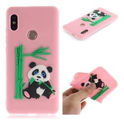 Panda Eating Bamboo Soft 3D Silicone Case for Xiaomi Redmi Note 5 Pro - Pink