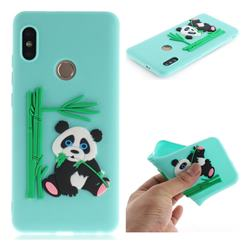 Panda Eating Bamboo Soft 3D Silicone Case for Xiaomi Redmi Note 5 Pro - Green