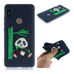 Panda Eating Bamboo Soft 3D Silicone Case for Xiaomi Redmi Note 5 Pro - Dark Blue