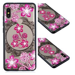 Daffodil Lace Diamond Flower Soft TPU Back Cover for Xiaomi Redmi Note 5 Pro