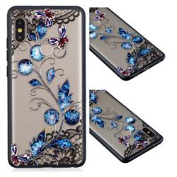 Butterfly Lace Diamond Flower Soft TPU Back Cover for Xiaomi Redmi Note 5 Pro