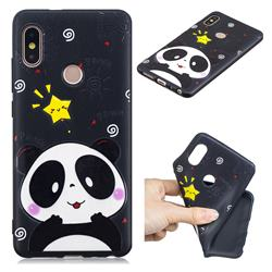 Cute Bear 3D Embossed Relief Black TPU Cell Phone Back Cover for Xiaomi Redmi Note 5 Pro