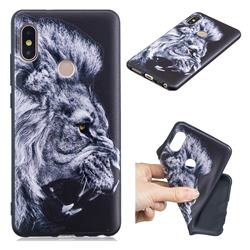 Lion 3D Embossed Relief Black TPU Cell Phone Back Cover for Xiaomi Redmi Note 5 Pro