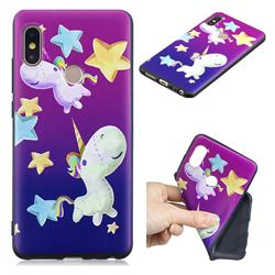 Pony 3D Embossed Relief Black TPU Cell Phone Back Cover for Xiaomi Redmi Note 5 Pro
