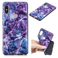 Marble 3D Embossed Relief Black TPU Cell Phone Back Cover for Xiaomi Redmi Note 5 Pro