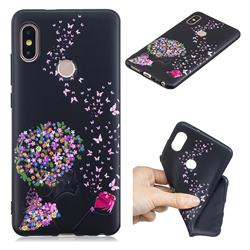 Corolla Girl 3D Embossed Relief Black TPU Cell Phone Back Cover for Xiaomi Redmi Note 5 Pro
