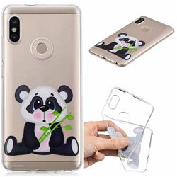 Bamboo Panda Clear Varnish Soft Phone Back Cover for Xiaomi Redmi Note 5 Pro