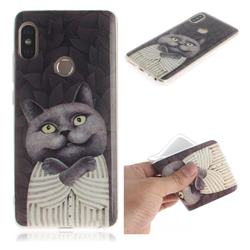 Cat Embrace IMD Soft TPU Cell Phone Back Cover for Xiaomi Redmi Note 5 Pro