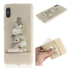 Three Squirrels IMD Soft TPU Cell Phone Back Cover for Xiaomi Redmi Note 5 Pro