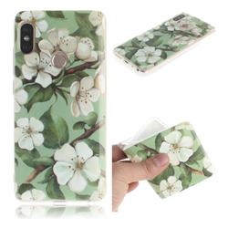 Watercolor Flower IMD Soft TPU Cell Phone Back Cover for Xiaomi Redmi Note 5 Pro