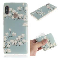 Magnolia Flower IMD Soft TPU Cell Phone Back Cover for Xiaomi Redmi Note 5 Pro