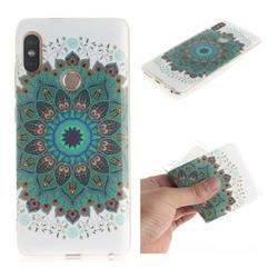 Peacock Mandala IMD Soft TPU Cell Phone Back Cover for Xiaomi Redmi Note 5 Pro