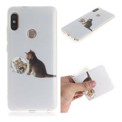 Cat and Tiger IMD Soft TPU Cell Phone Back Cover for Xiaomi Redmi Note 5 Pro