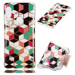 Three-dimensional Square Soft TPU Marble Pattern Phone Case for Xiaomi Redmi Note 5 Pro