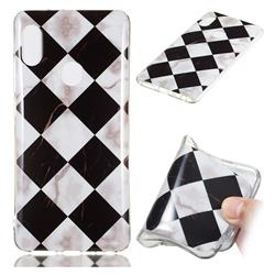 Black and White Matching Soft TPU Marble Pattern Phone Case for Xiaomi Redmi Note 5 Pro