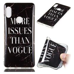 Stylish Black Soft TPU Marble Pattern Phone Case for Xiaomi Redmi Note 5 Pro