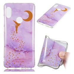 Elf Purple Soft TPU Marble Pattern Phone Case for Xiaomi Redmi Note 5 Pro