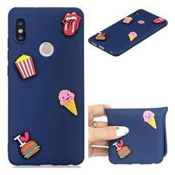 I Love Hamburger Soft 3D Silicone Case for Xiaomi Redmi Note 5 Pro