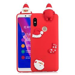 Red Santa Claus Christmas Xmax Soft 3D Silicone Case for Xiaomi Redmi Note 5 Pro