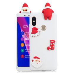 White Santa Claus Christmas Xmax Soft 3D Silicone Case for Xiaomi Redmi Note 5 Pro