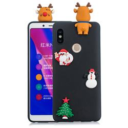 Black Elk Christmas Xmax Soft 3D Silicone Case for Xiaomi Redmi Note 5 Pro