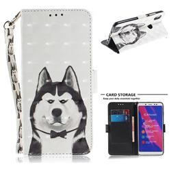 Husky Dog 3D Painted Leather Wallet Phone Case for Xiaomi Redmi Note 5 Pro