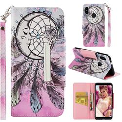 Angel Monternet Big Metal Buckle PU Leather Wallet Phone Case for Xiaomi Redmi Note 5 Pro