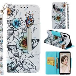 Fotus Flower Big Metal Buckle PU Leather Wallet Phone Case for Xiaomi Redmi Note 5 Pro