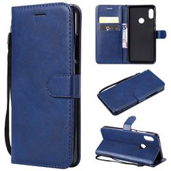 Retro Greek Classic Smooth PU Leather Wallet Phone Case for Xiaomi Redmi Note 5 Pro - Blue