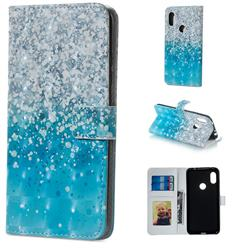 Sea Sand 3D Painted Leather Phone Wallet Case for Xiaomi Redmi Note 5 Pro