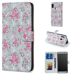 Roses Flower 3D Painted Leather Phone Wallet Case for Xiaomi Redmi Note 5 Pro