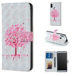 Sakura Flower Tree 3D Painted Leather Phone Wallet Case for Xiaomi Redmi Note 5 Pro