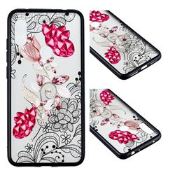 Tulip Lace Diamond Flower Soft TPU Back Cover for Mi Xiaomi Redmi Note 6
