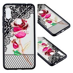 Rose Lace Diamond Flower Soft TPU Back Cover for Mi Xiaomi Redmi Note 6