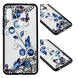 Butterfly Lace Diamond Flower Soft TPU Back Cover for Mi Xiaomi Redmi Note 6